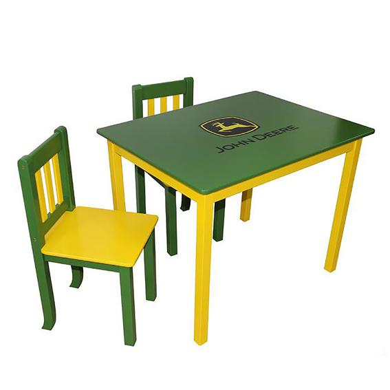 Ertl John Deere Green Children's Table & Chairs Set
