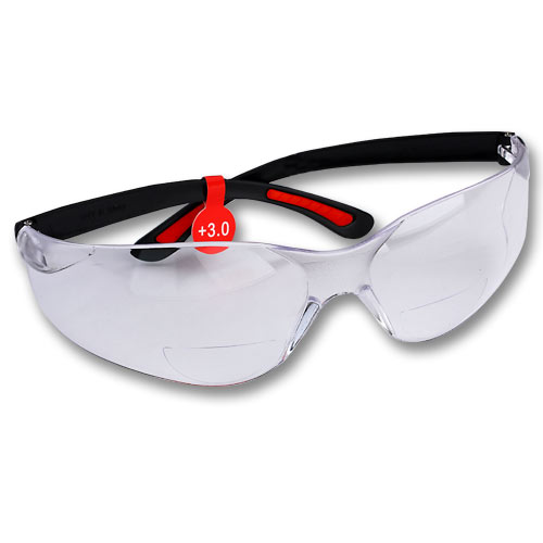 FastCap Catseye Safety Mag Glasses - 3 0 Diopter