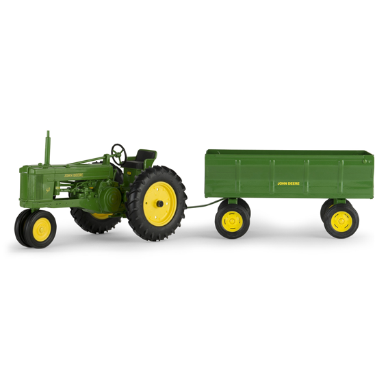 Ertl John Deere 1:16 Scale Model 50 Tractor With Flare Box Wagon