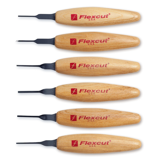 Flexcut #MT910 6 Pc. 1.5mm Micro Tool Mixed Tool Set