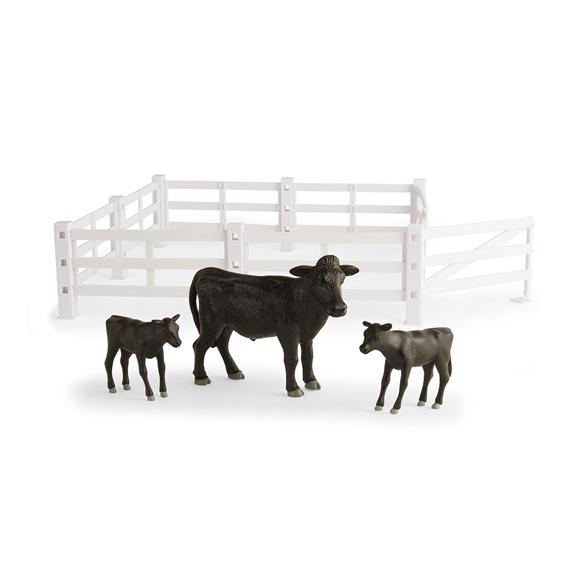 Tomy Big Farm 1:16 Scale Model Cows & Fencing Set