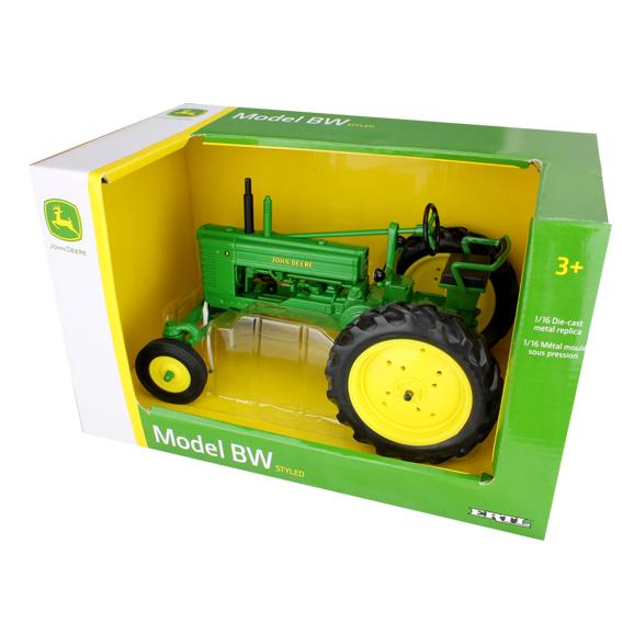 Ertl John Deere 1:16 Scale Model BW Tractor