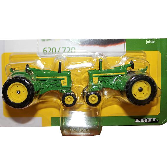 Ertl John Deere 1:64 Scale Model 620 & 720 Tractor 60th Anniversary Set