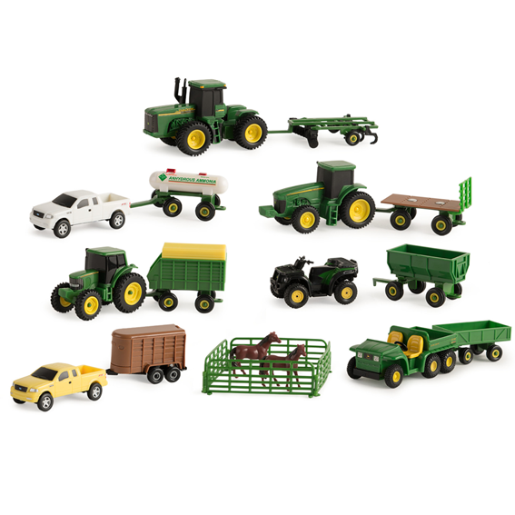 Ertl John Deere 1:64 Scale Farm Toy Set