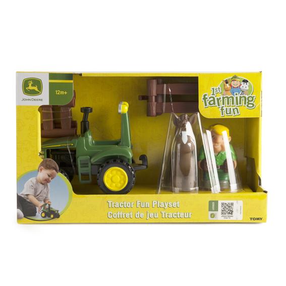 Tomy John Deere 1st Farming Fun Tractor Fun Play Set
