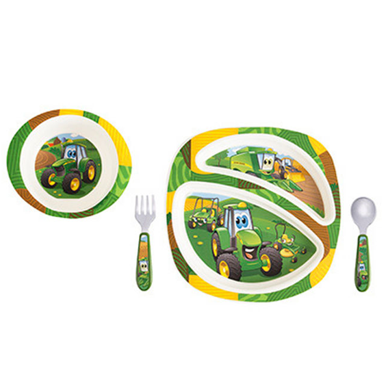 Tomy First Years Johnny Tractor & Friends 4 Pc  Dish Set