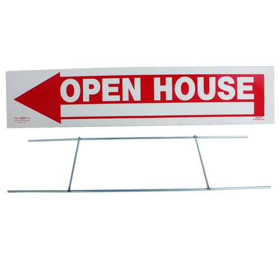 """The Hillman Group 842232 6/"""" X 24/"""" Open House Sign Real Estate Realtors Supplies for sale online"""