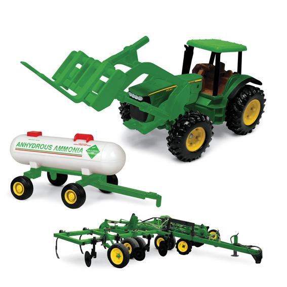 Ertl John Deere 8 Inch 8530 Tractor w/Forklift, Ammonia Tank, & Applicator