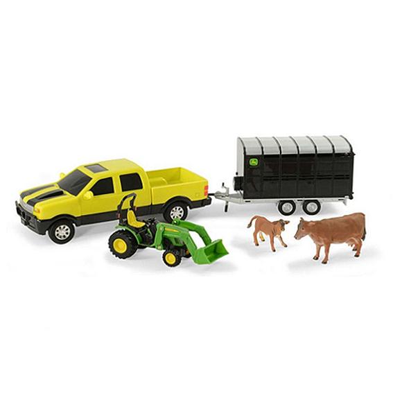 Ertl John Deere Animal Hauling Set