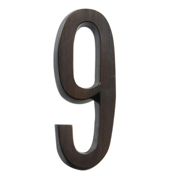 Hillman 843263 4-Inch Aged Bronze Address Plaque Number 9