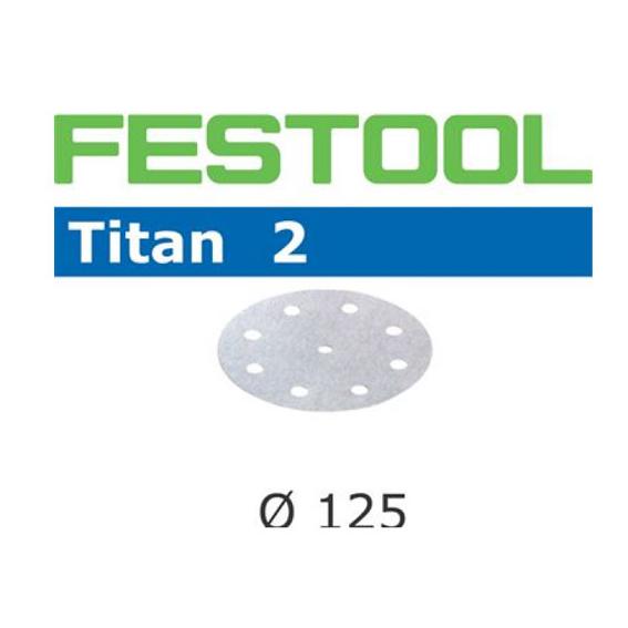 FESTOOL  495045 TITAN 2 P800 DISC ABRASIVES - 125MM - 100 PK.