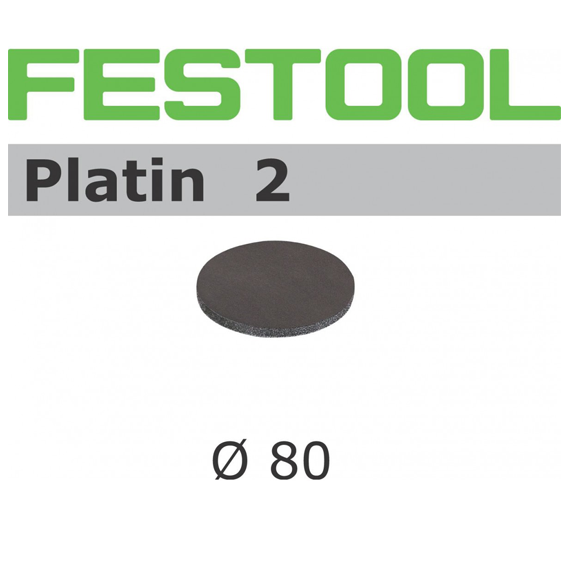 Festool 498322 90mm Platin 2 S500 Disc Abrasives, 15 ct