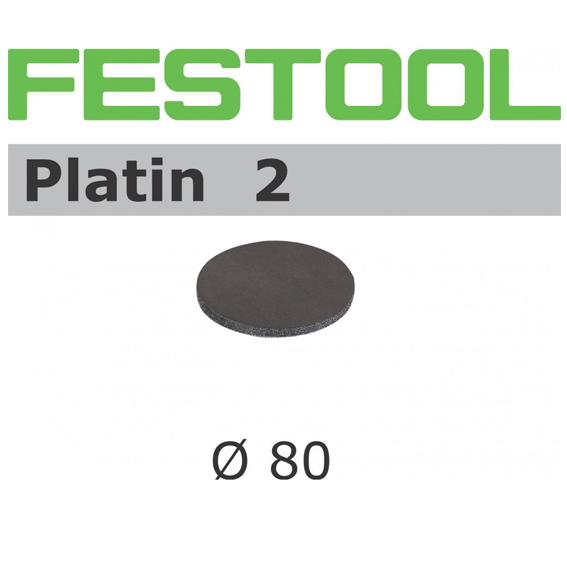 Festool 498324 90mm Platin 2 S2000 Disc Abrasives, 15 ct