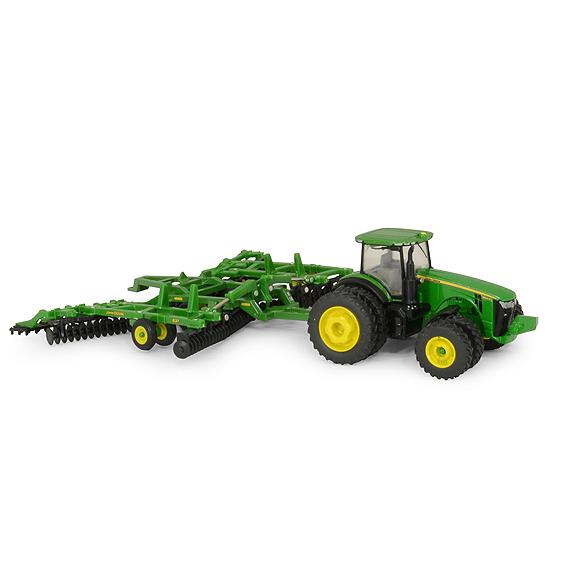 Ertl John Deere 1:64 Scale Model 8320R Tractor With 637 Disk