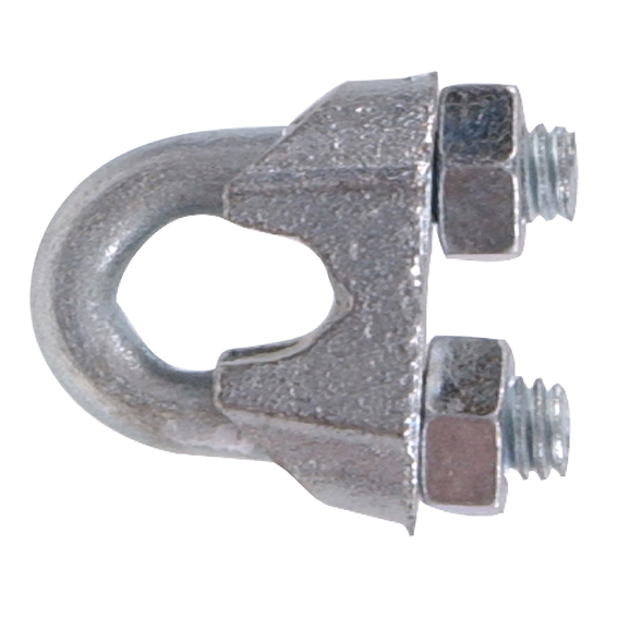 Hillman 852504 1/16 Zinc Plated Wire Rope Clip