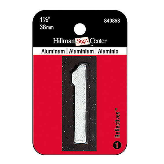Hillman 840858 1-1/2-Inch Reflective Mailbox Number 1