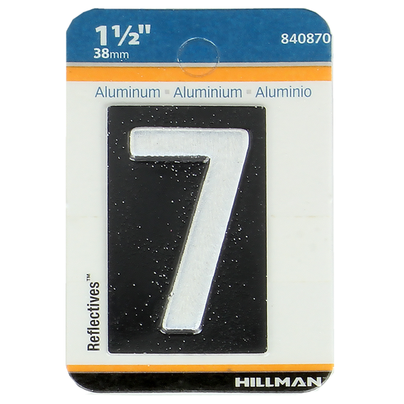 HILLMAN 840870 1-1/2 INCH REFLECTIVE MAILBOX NUMBER 7