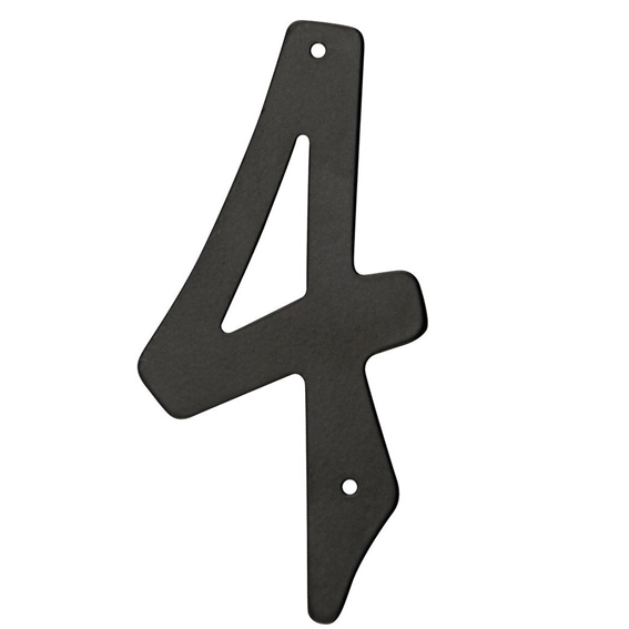 Hillman 841624 4 Black Die Cast Aluminum Number 4
