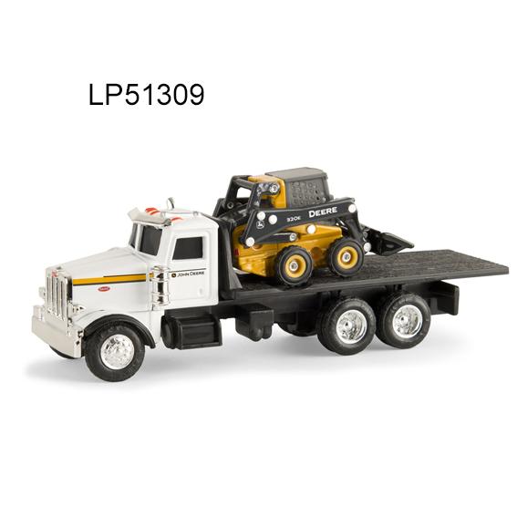 Ertl 1:64 Scale Peterbilt 367 Truck w/John Deere 320E Skid Steer Loader