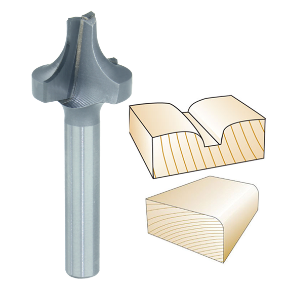 Whiteside 2052 Plunge Round Over with Plunge Point Router Bit, 1/4-Inch Shank x 1/4-Inch R