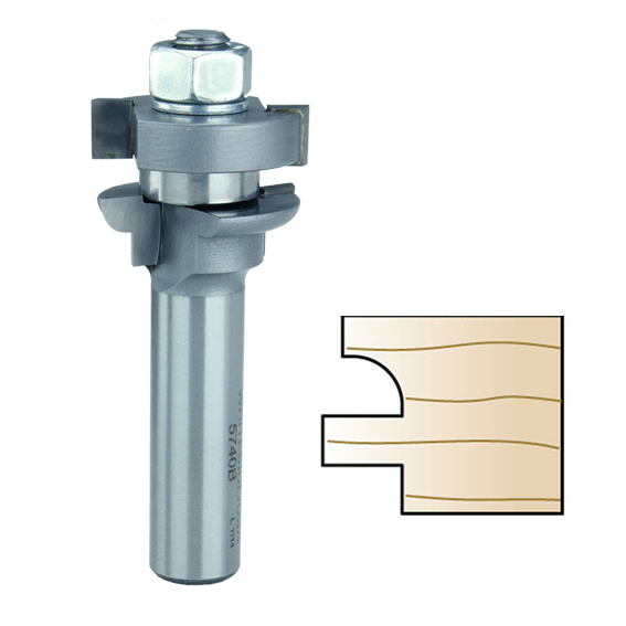 Whiteside 5740B Rail Cutter Router Bit, Round