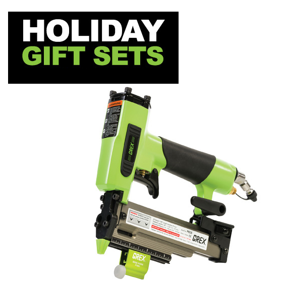 Grex #1850GB.H1 Green Buddy 1/2 to 2 18 Gauge Brad Nailer Gift Set
