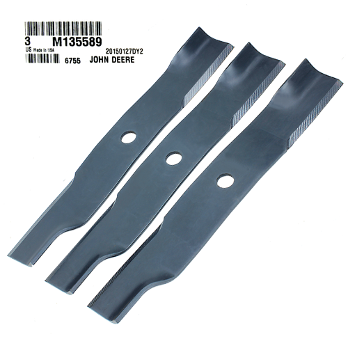 John Deere #M135589 Lawn Mower Blades, Set of 3
