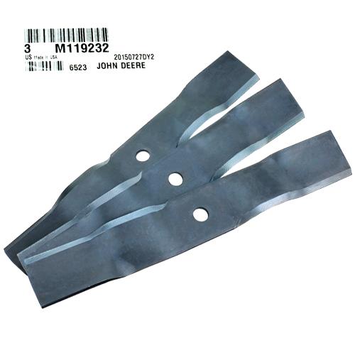 John Deere #M119232 Mulching Mower Blades, Set of 3