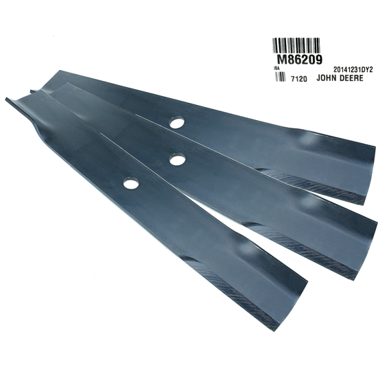 John Deere #M86209 Standard Mower Blades, Set of 3