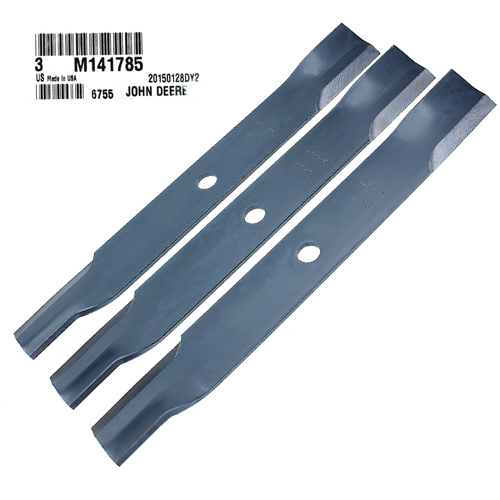 John Deere #M141785 Standard Lawn Mower Blades, Set of 3