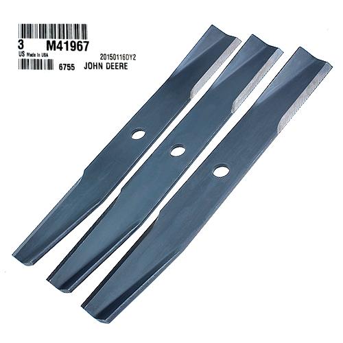 John Deere #M41967 Standard Lawn Mower Blades, Set of 3