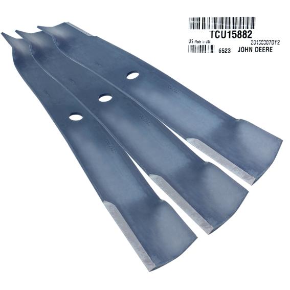 John Deere #TCU15882 High Lift Mower Blades - Set of 3
