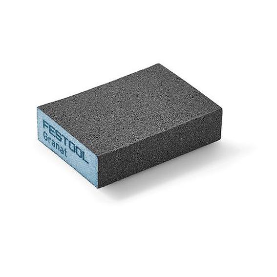 Festool 201083 Granat P220 Hard Square Sponge Abrasive Blocks, 6 ct