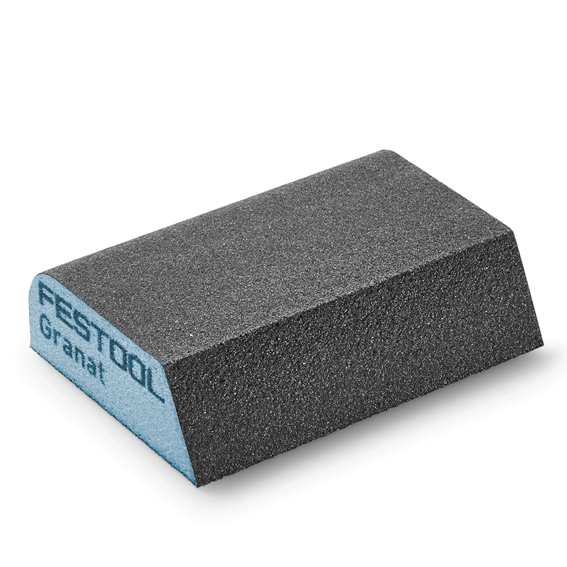 Festool 201084 P120 Hard Combi Sponge Abrasive Block, 6 ct