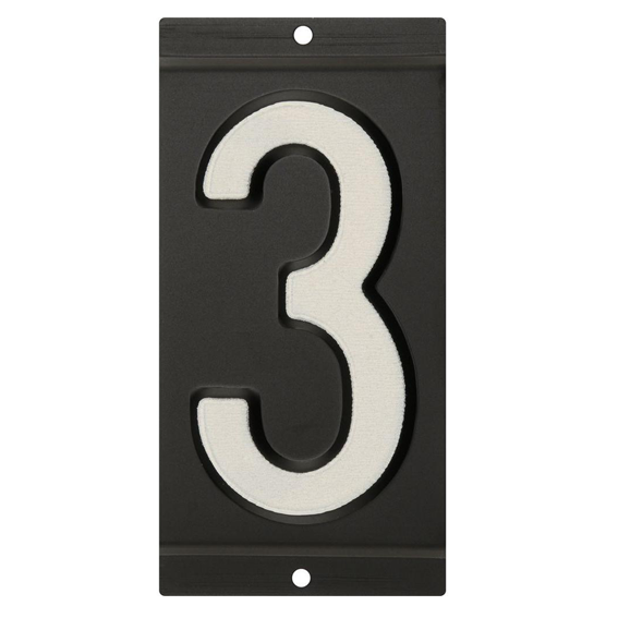 Hillman 841660 3-Inch Reflective Mailbox Number 3's, 2 Pk