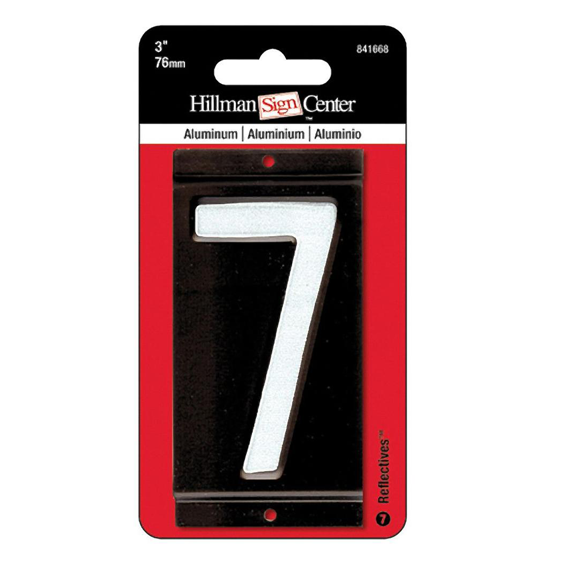 HILLMAN 841668 3 INCH REFLECTIVE MAILBOX NUMBER 7'S - 2 PK