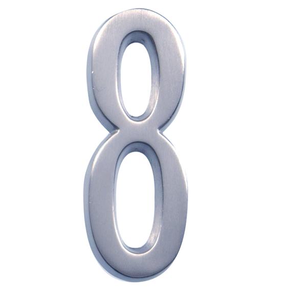 Hillman 843288 4-Inch Brushed Nickel Address Plaque Number 8's, 2 Pk