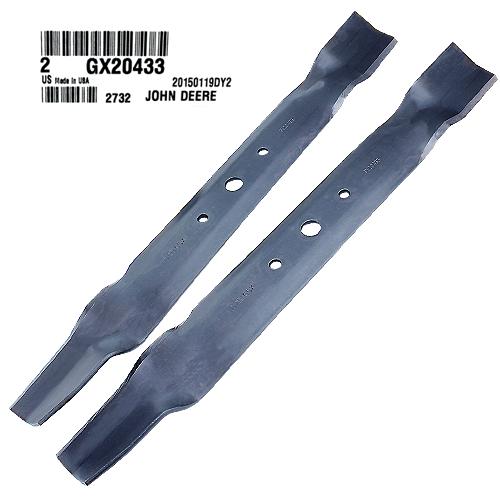 John Deere #GX20433 Bagging Lawn Mower Blades - Set of 2
