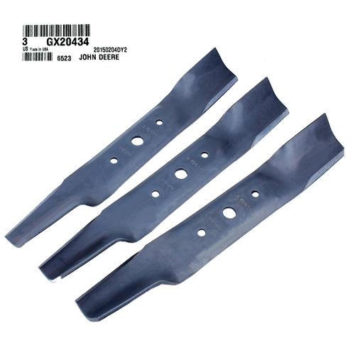 John Deere #GX20434 Bagging Lawn Mower Blades, Set of 3
