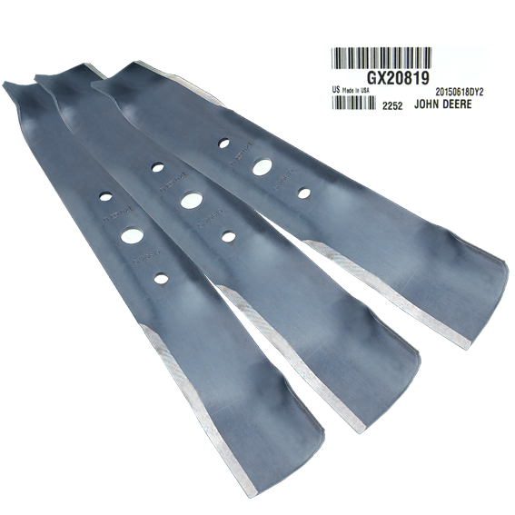 John Deere #GX20819 Mulching Mower Blades - Set of 3
