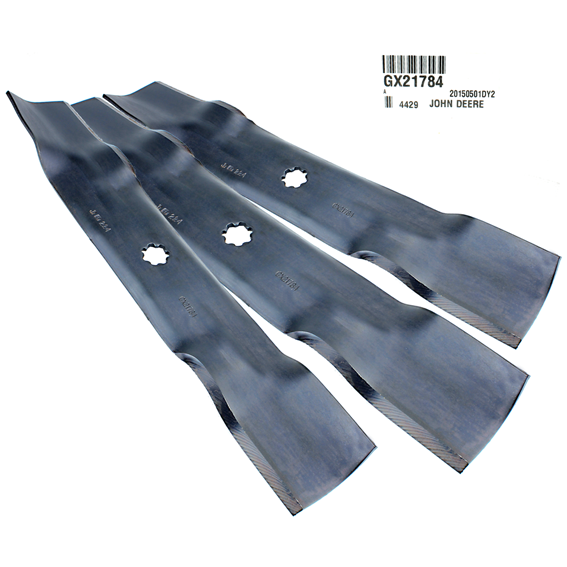 John Deere #GX21784 Standard Mower Blades - Set of 3