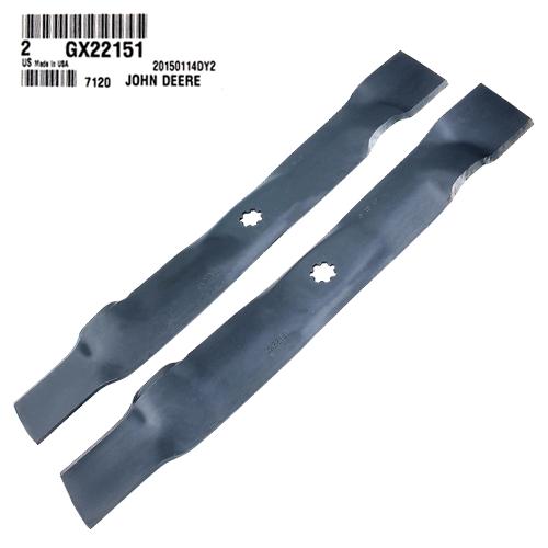 John Deere #GX22151 Standard 3-N-1 Lawn Mower Blades - Set of 2