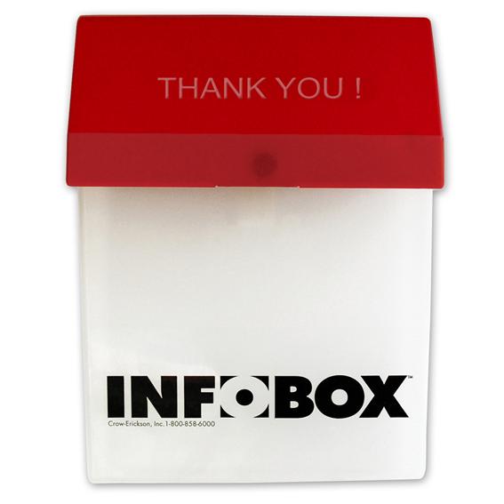 HILLMAN 843036 INFO-BOX OUTDOOR DOCUMENT HOLDERS - 2 PK