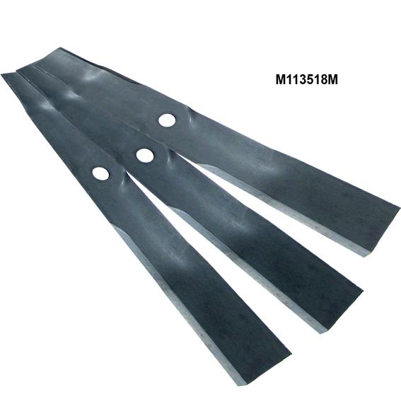 John Deere #M113518 Mulching Mower Blades - Set of 3