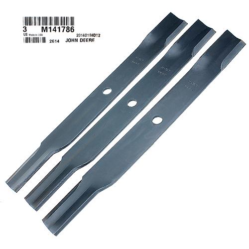 John Deere #M141786 Standard Mower Blades - Set of 3