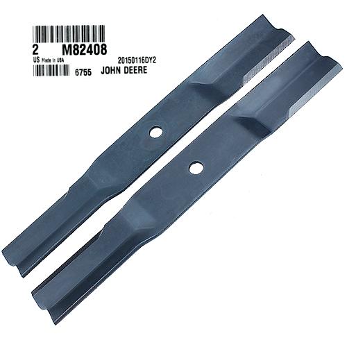 John Deere #M82408 Standard Mower Blades, Set of 2