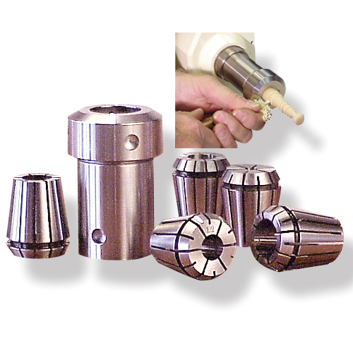 Beall Complete Collet Chuck Set, 1-Inch x 8 TPI