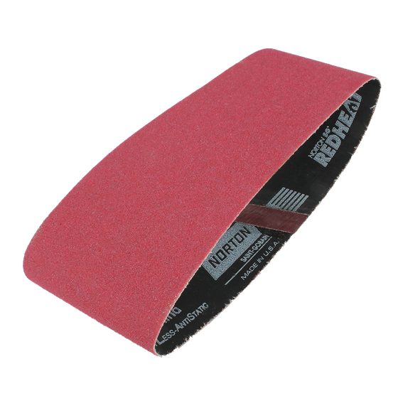 Norton 3 X 21 SG Red Heat Sanding Belt - 80 Grit