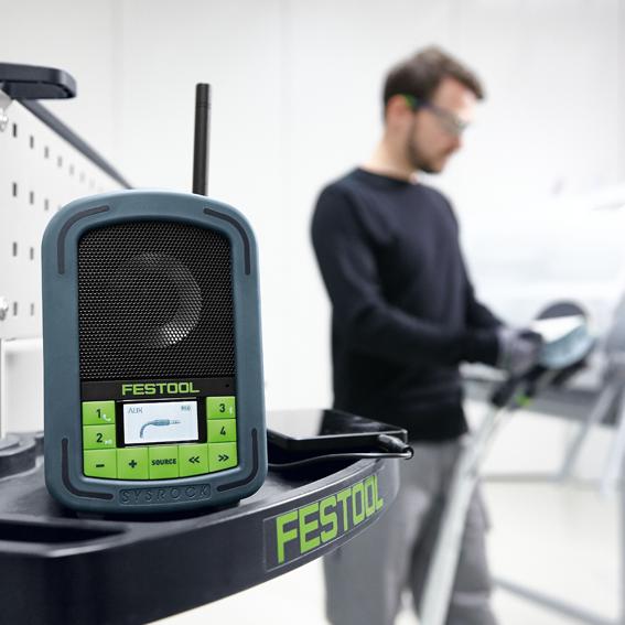 FESTOOL SYSROCK JOBSITE RADIO - ON THE JOB INDOORS