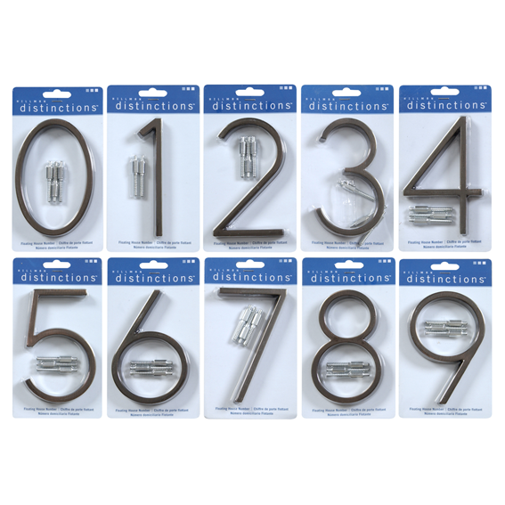 HILLMAN FLOATING HOUSE NUMBERS KIT - 5 INCH AGED BRONZE